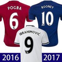 memphis - 16 IBRAHIMOVIC soccer jersey POGBA maillot top thai ROONEY Camiseta de futbol MARTIAL MEMPHIS SCHWEINSTEIGER football shirt