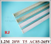Wholesale integrated compact LED tube light lamp T5 SMD LED fluorescent tube mm cm M FT feet W AC85 V led lm led