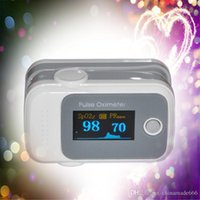 Wholesale PO10005B13 with Pulse Sound Audio Alarm OLED Fingertip oxymeter spo2 PR monitor Blood Oxygen Pulse Oximeter Freeshipping grey