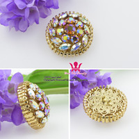 accessories mink coat - Buttons Rhinestone Inlay Diamond Round Circle Fur Accessories Hook Closure Mink Coat Pieces Of Clothing Collar Decorativ Brooch