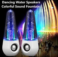 Haut-parleurs 3D surround haut-parleur usb danse haut-parleur de l'eau Portable Mini ordinateur audio LED coloré haut-parleurs de musique d'éclairage Noir Blanc