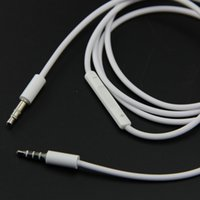audio volume - 1 M mm AUX Auxiliary CableWith Mic With Volume cable Male To Male M M Stereo Audio for iphone and Samsung