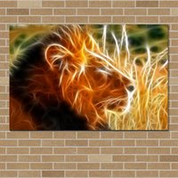 Wholesale Modern Art Pictures On Canvas NO Frame Home Decor Picture Canvas Poster LION