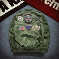 best bomber jackets - 2016 best selling Spring Bomber Jacket Men Fashion Long Sleeve Pilot Jacket