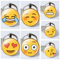 Wholesale Emoji Keychain Charm Pendant Keychains pendant Key Chains Emoji Smiley Small pendant Emotion Cute key ring KKA886