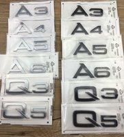 audi emblem stickers - Good quality D Car Adhesive Emblem Badge Stickers Accessories Styling For Audi A3 A4 A5 A6 A7 Q3 Q5 Q7 TT