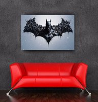 Wholesale 2016 newest the dark knight rises batman logo wall sticker poster for walls x36inch x90cm home decor wall sticker