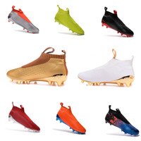 Wholesale 100 Original Ace GOOD Purecontrol FG Soccer Boots Pure Control Football Shoes Soccer Cleats Boots Authentic Ankle