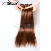 outlet brazilian hair - 50 Off Outlet Brazilian Indian Peruvian Remy Hair Extensions Unprocessed Straight Virgin human hair weave Colored Brown Body Wave