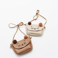 animal crossing cats - 2016 new arrival children Leather Mini Pack girls bags cute cat bag Satchel colors