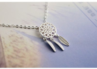 Wholesale 2016 new fashion original designer models Sterling Silver Fashion Silver Chain Necklace Jewelry Dreamcatcher set