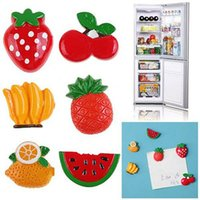 Wholesale 2PCS Resin Vegetables Fruit Style Kitchen Fridge Magnet Sheet Funny Gift Random Color