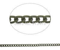 aluminum nickel bronze - Aluminum Opened Chain wedding jewellery antique bronze color plated curb chain nickel lead cadmium free