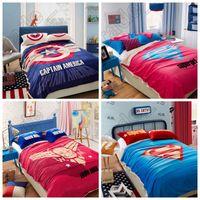 america blanket - LJJL187 Captain America Bed Blanket Cartoon Supergirl Superman m Soft Warm Bedding Sleep Blanket Flat