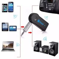 Wholesale Bluetooth Car Kit Handsfree A2DP Wireless Music Receiver Adapter with Microphone for iPhone Samsung Android Cell Phones Retail Packaging