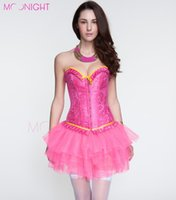 Wholesale Lace up Pink Corset amp Bustier Women Overbust Corsets Corselet corpetes new sexy gothic lace up boned corset top