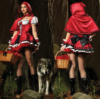 Wholesale Women s Queen costumes Game Clothing Little Red Riding Hood Halloween cosplay Christmas Prom Show Castle Princess game clothing