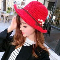 Wholesale Kids Hats Girls Hats Children Caps Sun Hat Knitted Beanie Hat Wool Cap Autumn Winter Hat Girls Caps Baby Crochet Hats Lovekiss C28787
