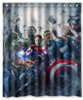 avengers curtains - The Avengers Captain America Hulk Hot Selling Custom Polyester Shower Curtain Waterproof Print Size x180cm With Hooks