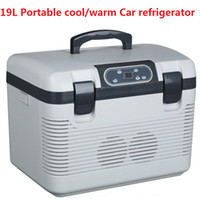 Wholesale L Cooler box portable refrigerator cool warm box liter car fridge for food and drink