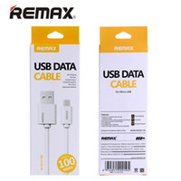 Wholesale 100 Original Remax M FT Fast Charging Micro USB Charging Data Cable for Samsung LG HTC with Retail Box