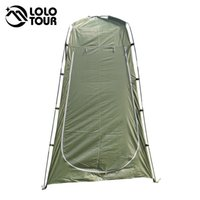Wholesale Lightweight Portable Camping Shower tent awning canvas folding Outdoor Toilet Room Privacy showing Changing clothes tente white
