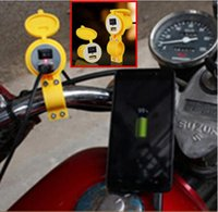 Wholesale New Motorcycle Parts Waterproof USB Car accessories Charger Switch Pedal Vehicles Cell Phone Battery Charger V