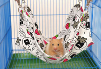 Wholesale Cute Canvas Hamster Hammock Suit For Rats House Habitats Hutches Or Storage Box Cage Ventilate Pet Cushion Size Mix Color