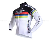 Wholesale LANCE SOBIKE cycling jerseys men long sleeve shirt bicycle clothing in summer