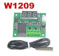 Wholesale 10pcs W1209 DC V thermometer thermo controller temp thermostat temperature control switch controller heat cool Waterproof