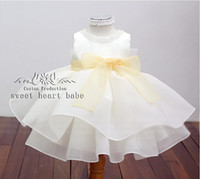 baby clothes cupcakes - Baby Infant Toddler Pageant Clothes Sequins Organza sash cupcakes little kids mini skirt Formal Occasion Flower Girl Dress F1608231