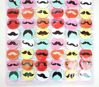 Wholesale 96 fashion lovely men women I Love Heart Moustache cm Pin Button Badge Tash