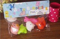 baby bath doll - Popular Baby Bath Toys Water Floating Dolls Animal Cartoon Yellow Ducks Starfish Children Swiming Beach Rubber Toy Kids Gifts