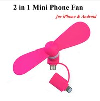 adapter fan - 2016 NEW Cute in Portable Micro Mini USB Fans For iPhone ipad Samsung LG Huawei Sony Android Smartphones Adapter Gadget Gift