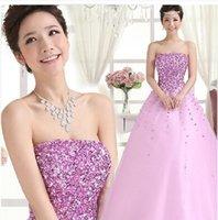 bamboo nightclub - New Arrival Hot Sale Fashion Special Elegant Luxury Princess Purple Flower Nightclub Sequins Toast Host Banquet Prom Evening Dress