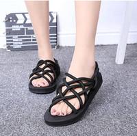 designer fabric - Black Flat Gladiator Sandals for Women Famous Brand designer Fashion Casual Newest Summer Ladies Shoes Flat Heel