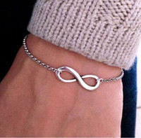 Wholesale 20pcs New Fashion Fine Jewelry Christmas Gift Bohemia Style Infinity Symbol Bracelets