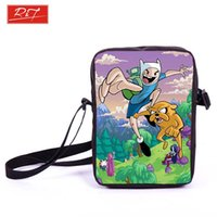 best book bags - Anime Adventure Time Prints Mini Messenger Bag Finn Jake School Bags Kids Book Bag For Snacks Boys Girls Bookbag Bags Best Gift