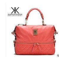 Wholesale Kim kardashian kollection kk Shoulder Bag Designer Bag Handbags Women Rivet Fashion Bucket Gold Chain Messenger Bags