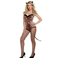 adult cutting - Sweetheart Neckline Cut Out Criss Cross Front Spaghetti Straps Sexy Leopard Costume Ladies Woman Adults Costume L15221