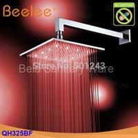 Wholesale Contemporary Brass mm Square Hydro Power LED Bathroom Overhead Shower Faucet QH325BF