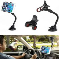 Wholesale HIgh Quality Double Clip Phone Holder For Car Universal Phone Mount Car Holder For iphone s plus For Sumsang S6 Car DVR GPS