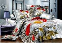 bargain comforter sets - Excellent Bargain classical flower leopard print cotton bedroom bedding set for queen size beds duvet cover sheets comforter set