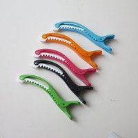 beautiful hairdressers - 6pcs colorful plastic section clip for salon hairdresser and personal beautiful alligator clip mixed color