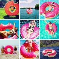 Wholesale Inflatable new Gigantic Swim Ring Giant Fun Bite Shape Donut Swimming Pool Water Float Raft