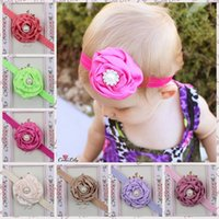 Wholesale 2016 New Arrival Europe and America Children s Headbands satin rose Baby Hair Band Accessories