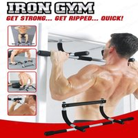 Wholesale New Black Body Fitness Exercise Home Gym Gymnastics Workout Trainning Door Pull up bar Push Portable Chin up bar