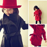 Wholesale New Winter Toddler Kids Baby Girls Long Coats Warm Thicken Jacket Windbreaker with Sash Outerwear Fashion Girl Clothes Y