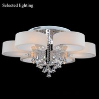 Wholesale Multi Color Crystal Chandelier Remove Control Pendant Light Crystal Ceiling Chandelier LED Lighting Foyer Light Fixture