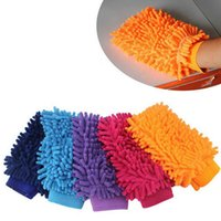 Wholesale 1 Mixed Color Microfiber Chenille Car Cleaning Mitt Wash Equipment Car Detailing Home Duster Cleaning glove